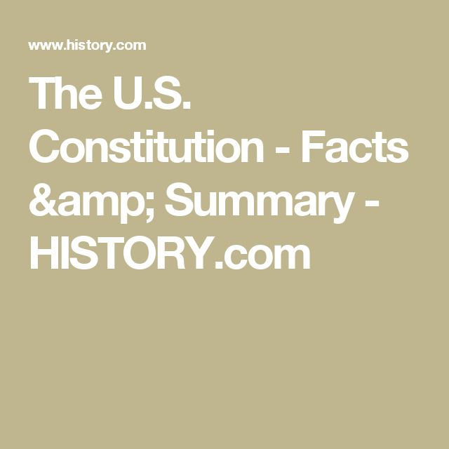 The U.S. Constitution - Facts & Summary - HISTORY.com