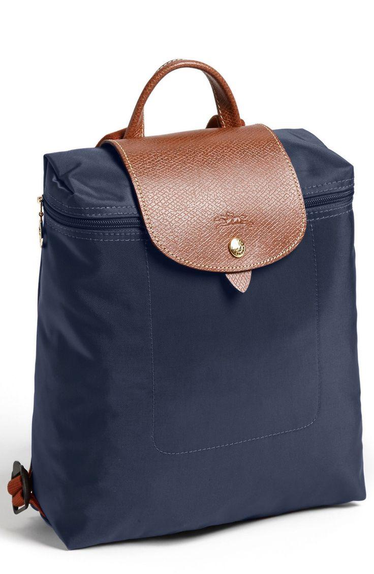 longchamp le pliage navy backpack | totes & handbags ...