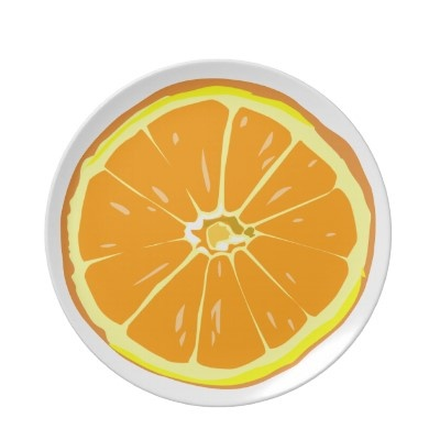 Orange slice plate  Perfect for celebrating a special occasion or creating a one-of-a-kind dining set, our non-toxic and dishwasher-safe plates show off your photos, designs, and text in vibrant full-color printing. Adorn your home with a custom plate today!