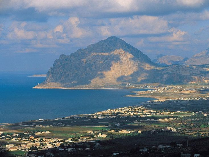 Mount Cofano and the coast of Custonaci