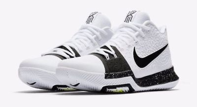 online store 70204 ea859 Nike Kyrie 3 TB Mens Basketball Shoes 9.5 White Black 917724 100