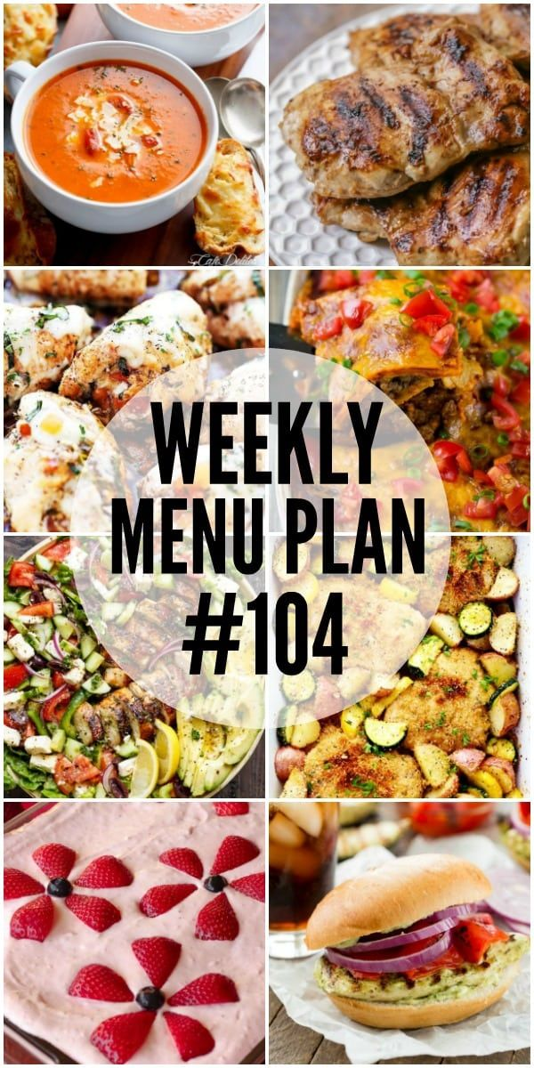 We have gotten together with some of our favorite food bloggers to bring you this custom weekly menu plan. We will all be sharing some of our favorite recipe ideas for you to use as you are planning out your meals for the week. Just click any of the recipe titles or pictures to getContinue Reading...