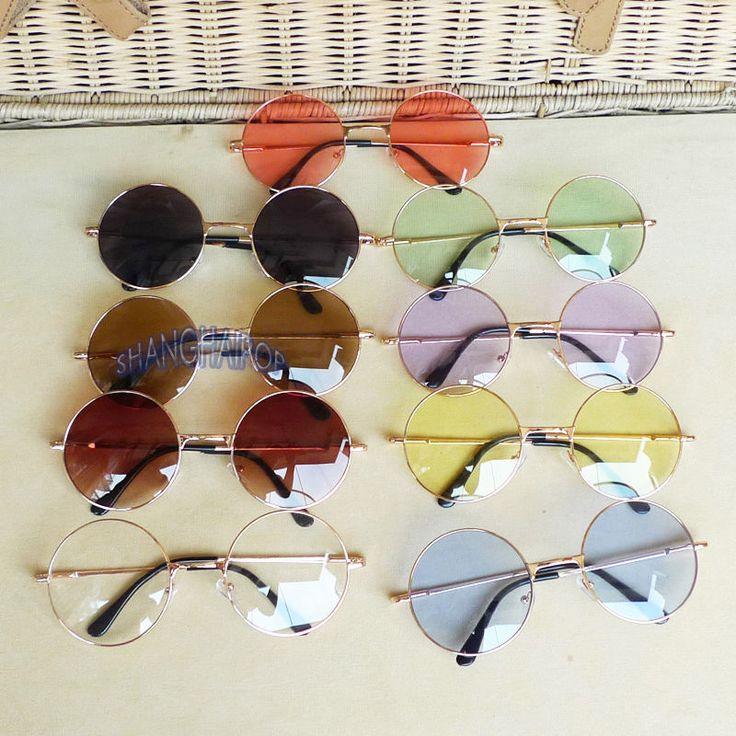 Vintage Golden Frame Round Sunglasses Glasses Hippie Shades Lennon Ozzy 60s  70s 4c0c5df59d