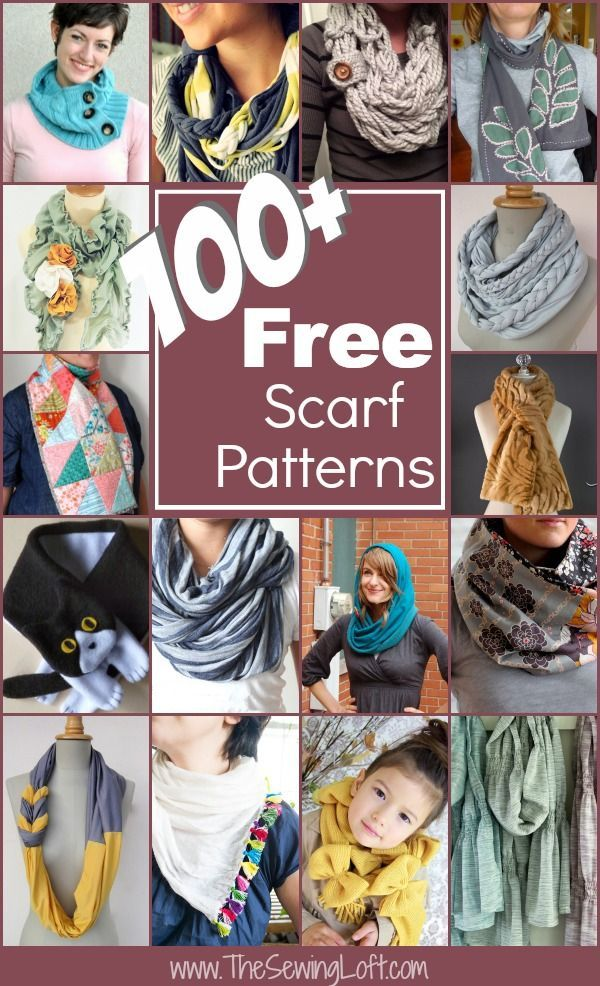 100+ Free Scarf Patterns Rounded Up in one place. The Sewing Loft