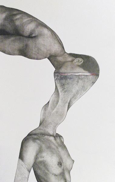 Roberto Gioli, untitled.    Roberte Gioli is een mixedmedia kunstenaar uit Italie. Hij combineert fotografie met computerbewerking en handmatig schilderen. Dit werk spreekt mij aan vanwege de duidelijke gelaagdheid van deze verschillende technieken.