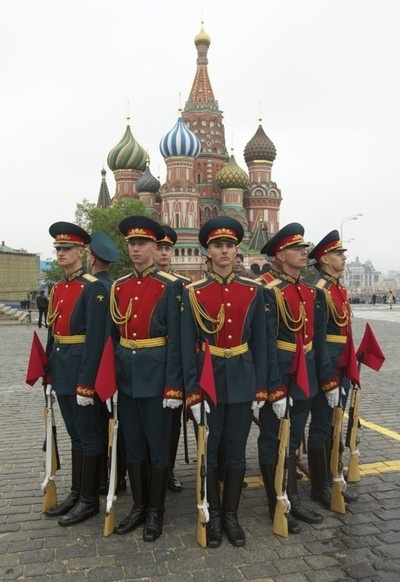 Russian Guards in Moscow, Russia.