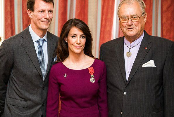 Princess Marie of Denmark received the National Order of the Legion of Honour by a ceremony held at French Embassy in Copenhagen. The full name of that order of merit is National Order of the Legion of Honour (In French: Ordre national de la Legion d'honneur) and is the highest French order of merit.