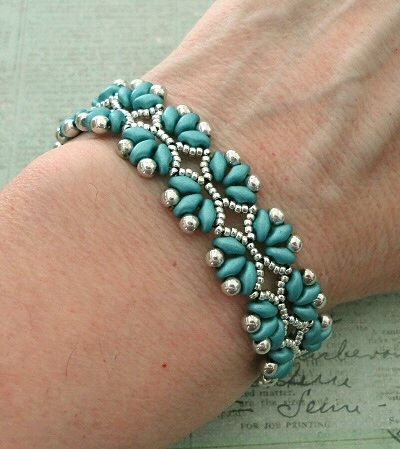 Bracelet of the Day: Paloma's Path - Arctic Blue & Silver