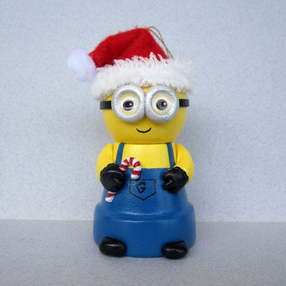 Christmas Minion Flowerpot Bell Ornament by sanquicreations, $9.99