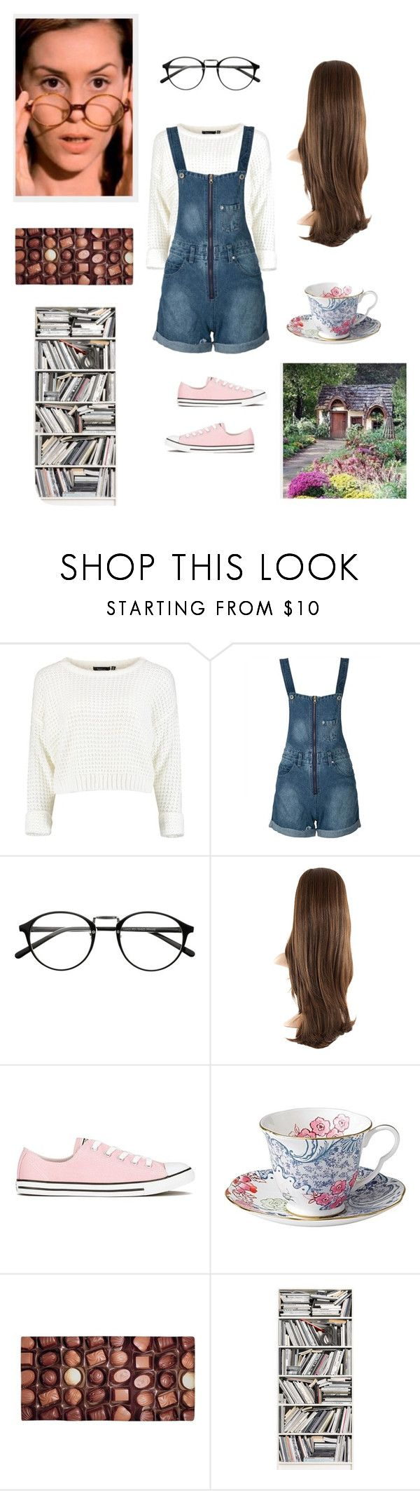"""Ms.Honey from Matilda"" by aribear12 ❤ liked on Polyvore featuring WithChic, Converse and Brewster Home Fashions"