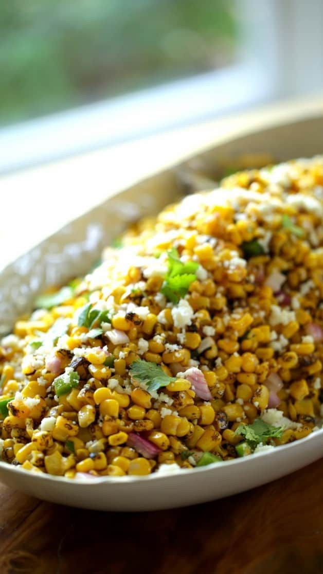 Charred Mexican Corn Salad Recipe Entertaining With Beth Recipe Taco Side Dishes Mexican Corn Salad Mexican Food Recipes