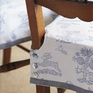 NINE + SIXTEEN: Decorating Inspiration | Slipcovers + Seat Skirts for Dining Room Chairs