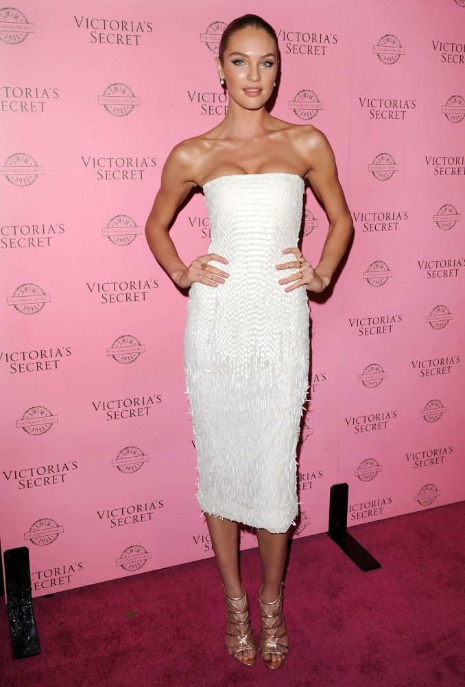 Candice Swanepoel Is White Hot in a Strapless Dress | Models, For ...