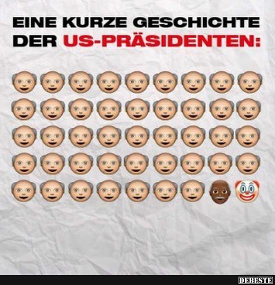 Eine kurze Geschichte der US-Präsidenten.. | Lustige Bilder, Sprüche, Witze, echt lustig