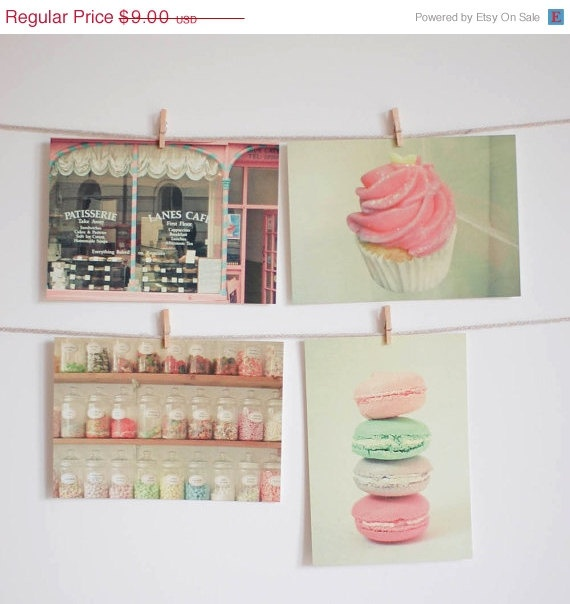 Food postcard set  Pastel candy colours door LolasRoom, $7,20