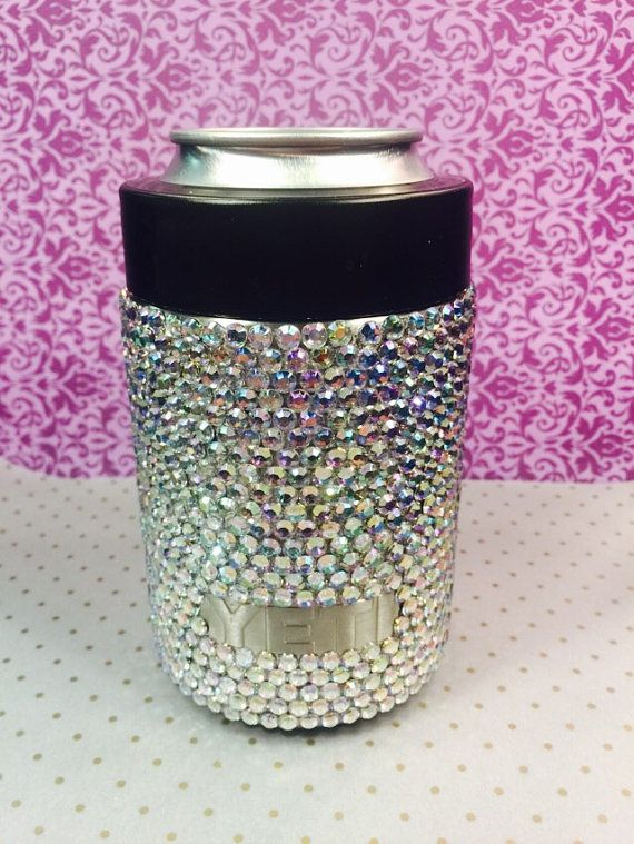 Full rhinestone yeti colster, custom tumbler, bling koozie, party cup, bachelorette, wedding, rambler