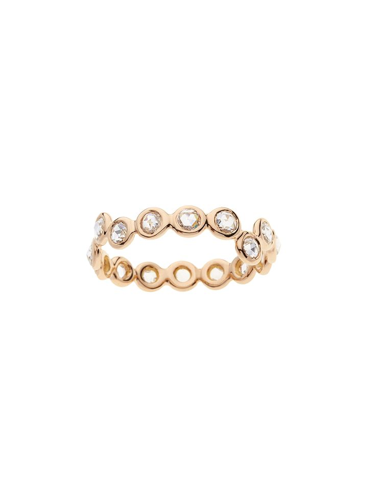 "18K pink gold ""Cardio"" ring with 16 white rose-cut Diamonds www.lito-jewelry.com"
