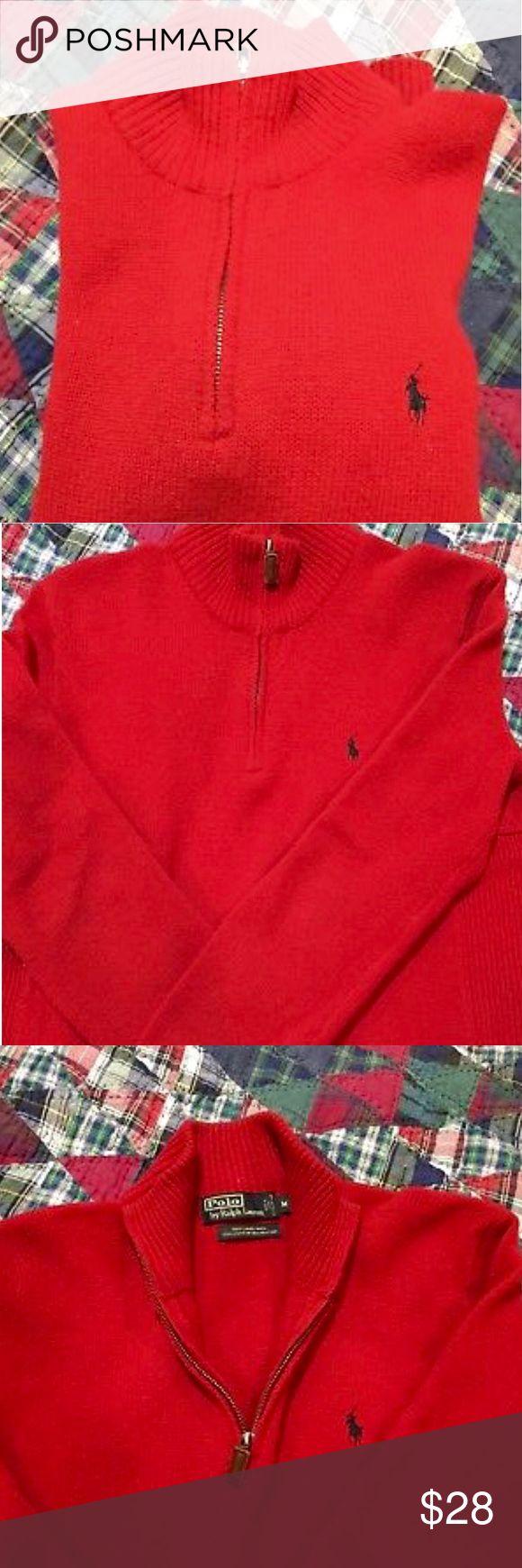 Polo Ralph Lauren 1/4 zip half zip sweater Polo Ralph Lauren 1/4 zip half zip in polo red size medium. PRICE IS FIRM!!! Polo by Ralph Lauren Sweaters