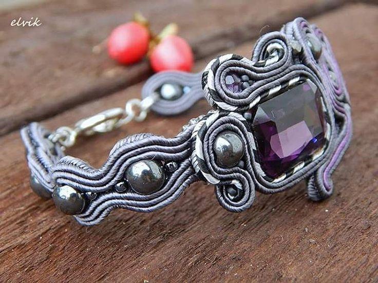 Today without symmetry - Kaoso bracelet #sutasz #soutache #bracelet #bransoletka #handmade #jewelry #bijoux #fashion #fashiongram #madeinpoland