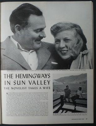 Robert Capa Life magazine 6th January 1941 Ernest Hemingway / Martha Gellhorn - Slightly out of Focus