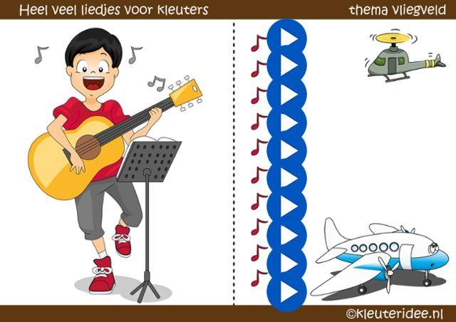 Allerlei liedjes voor kleuters over vliegen, thema vliegveld by juf Petra van kleuteridee