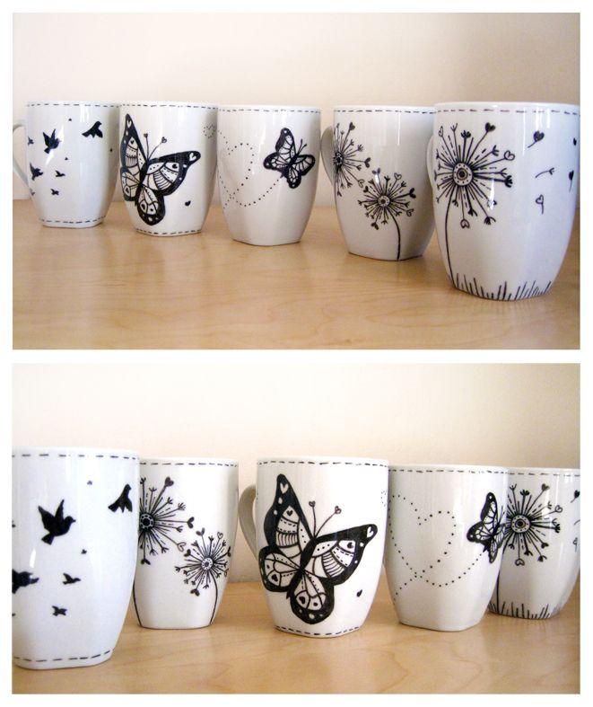 Best 25 mug ideas ideas on pinterest sharpie mugs for Mug painting designs