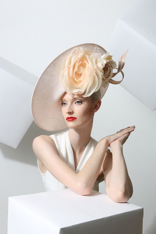 Philip Treacy London | Powder Side Slice | Powder and Wide Brim Hats | LOVEHATS.COM