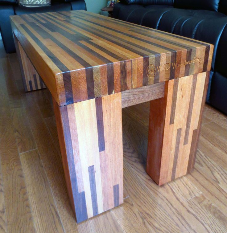 """Solid 3 1/2""""  Butcher Block Coffee Table"""