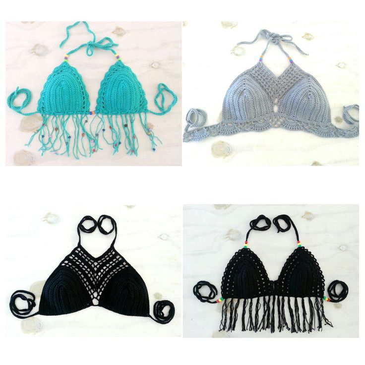 Gelang Bikini Crochet and Halter Top