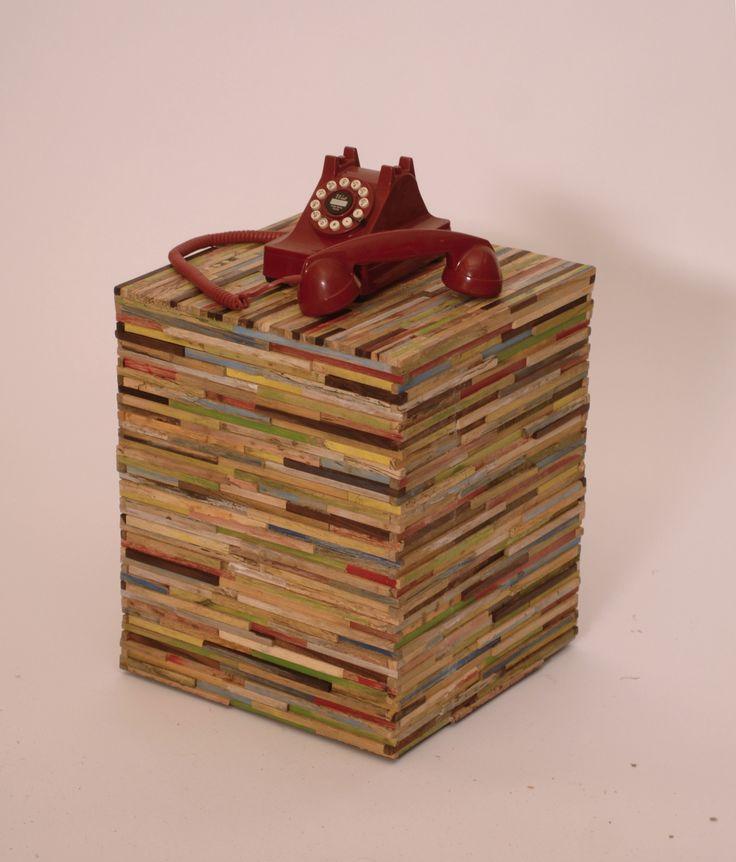 Natural Decor Recycled Wood Rainbow Meridien End Table - Harrington Galleries