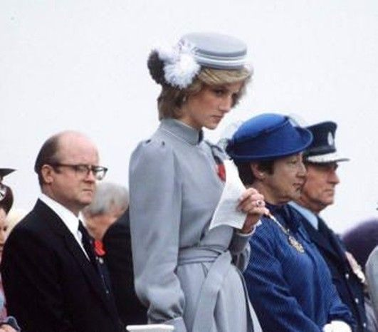 On April 25th in 1983 Prince Charles and Princess Diana attended an Anzac Day Remembrance Ceremony at Auckland, in New Zealand.