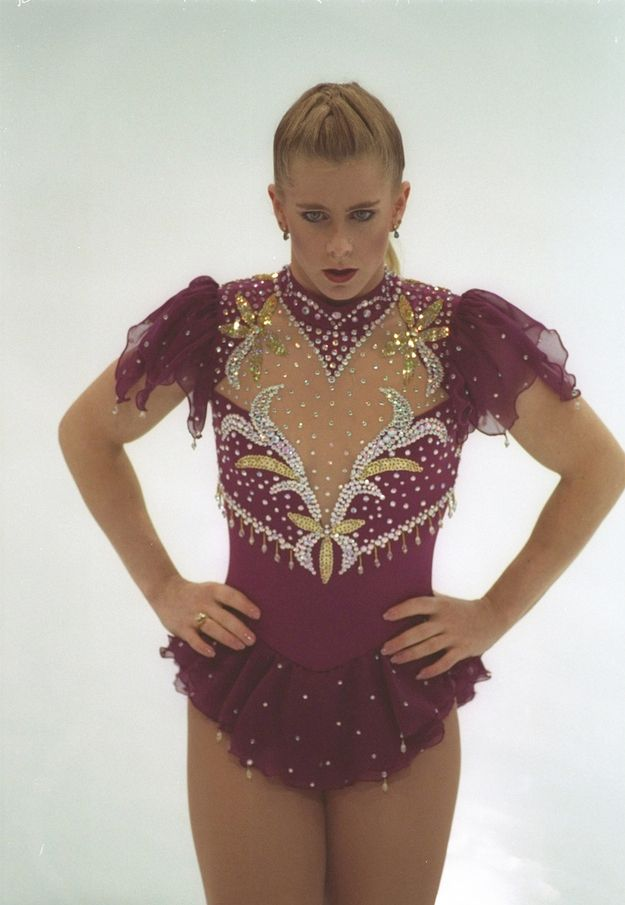This is so a Mean Girls skating outfit. | The 30 Most Fantastic Ice Skating Outfits Of The '90s