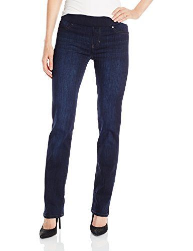 New Trending Denim: Liverpool Jeans Company Womens Jilian Straight Legged Jean, Dunmore Dark Blue, 12. Liverpool Jeans Company Women's Jilian Straight Legged Jean, Dunmore Dark Blue, 12   Special Offer: $79.00      155 Reviews Straight leg pull on jean in velvety, silky soft denim that is slim but relaxed through the leg. Signature elastic waistband provides tummy control for...