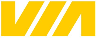 Via Rail logo. Designed by Burton Kramer (1976).