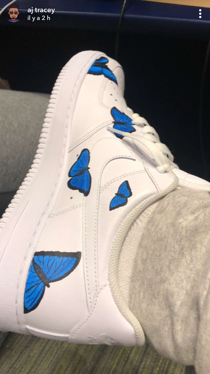 Butterfly air force ones