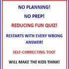 REDUCING POWERPOINT FUN QUIZ * Students must know how to reduce fractions! This PowerPoint program for individual practice will help students understand how to reduce fractions. It's SELF-CORRECTING and RESTARTS with every wrong answer. Your students will be challenged and engaged as they practice reducing. Great graphics and animation enhance this program. SELF-CORRECTING!