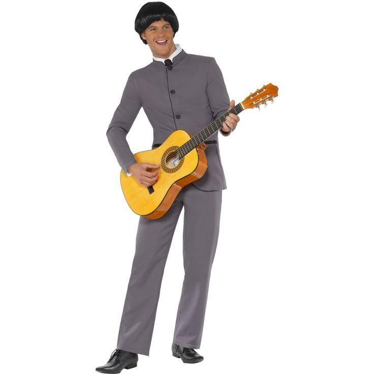Beatles outfit voor volwassenen  Beatles kostuum. Dit Beatles kostuum bestaat uit een grijs jasje en grijze broek. Met dit kostuum aan lijk je net een Beatle of ??n van de leden van Fab Four. Verkrijgbaar in diverse maten.  EUR 36.95  Meer informatie