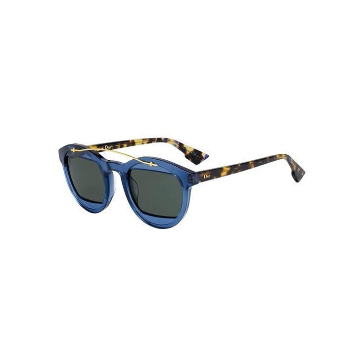 Gafas de Sol DIOR MANIA 1 Transparent blue blonde havana - Green