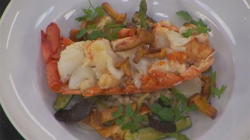 Lobster Risotto with Chanterelle Mushrooms and Black Truffles | MasterChef Australia #masterchefrecipes