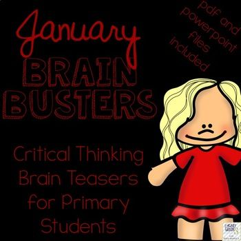 Do you find your homeroom periods to be hectic?  Are your students trying to get your attention, speaking too loudly, or not participating in the morning routine like you would like them to?  Do you have to juggle attendance, homework, lunch money, and notes from home?  If you have answered yes to any of these questions, January Brain Busters is perfect for you!