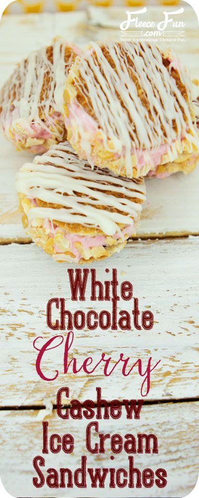 Cashew Ice Cream Sandwiches | Recipe | Chocolate Cherry, Ice Cream ...