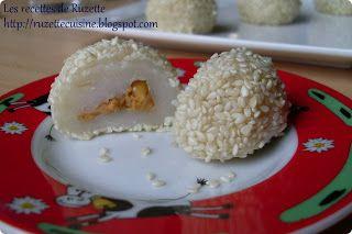Les recettes de Ruzette: Mochi fourré au beurre de cacahuète
