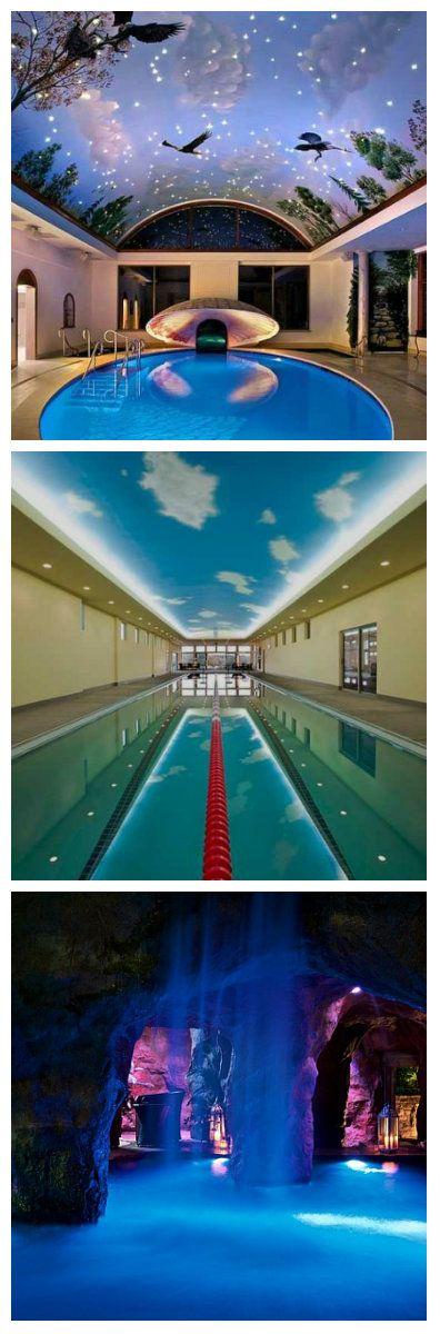 Крытый бассейн дома - сказочная мечта всякого обывателя. И уж если этой мечте суждено осуществиться, потолок должен быть не менее волшебным! Именно такого типа потолки представлены на данной странице.