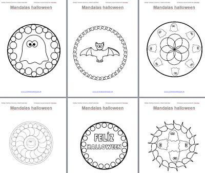 Trabajamos la atención con Mandalas de Halloween
