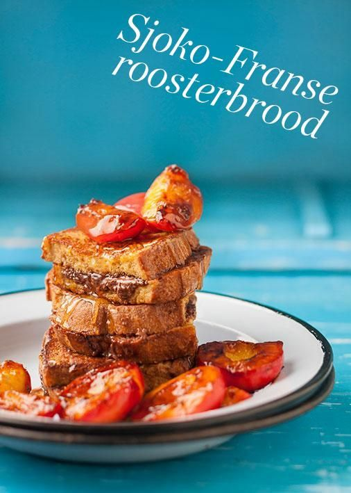 Chocolate French toast | Sjoko-Franse roosterbrood #rooirose