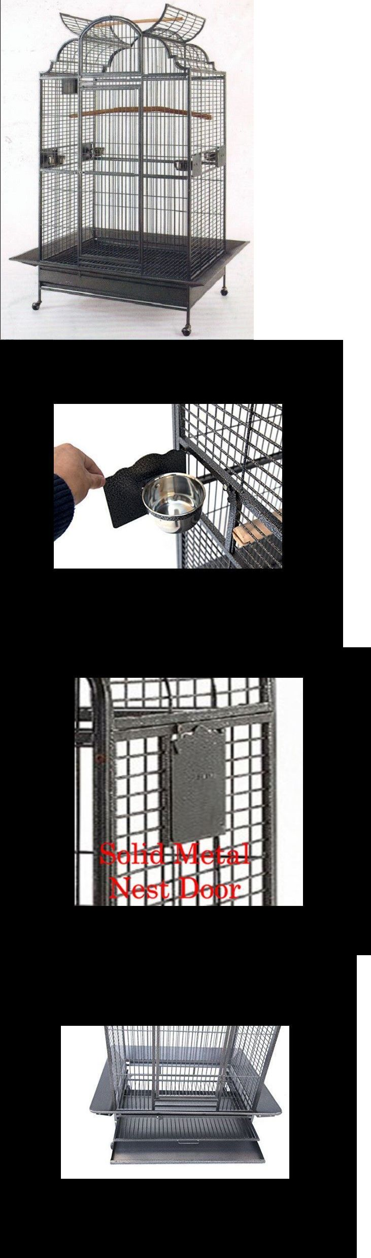 Cages 46289: Extra Large Bird Cage Parrot Decorative Metal Macaw Playtop Wrought Iron Cockato -> BUY IT NOW ONLY: $179.99 on eBay!