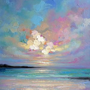 """Se Abrió, The Sky Opened"" 24″x24"" Acrylic Painting on Canvas - Melissa McKinnon"