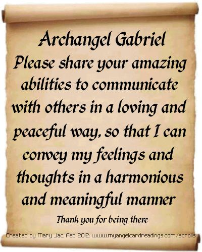 Archangel Prayers and Messages on Parchment Scrolls