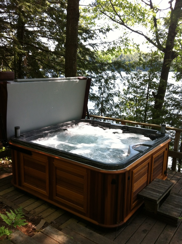 Hot Tub installed in beautiful Parry Sound