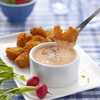 Gemakkelijk recept voor een pittige dipsaus met ansjovis, radijsjes, yoghurt en wasabi. Heerlijk pikant, voor de echte durvers!